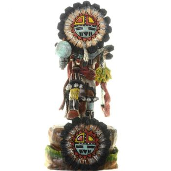 Genuine Native American made Hopi Sunface Kachina Doll