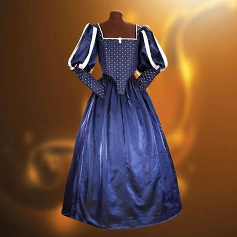 Lovely Blue Adult Milady Tudor Gown