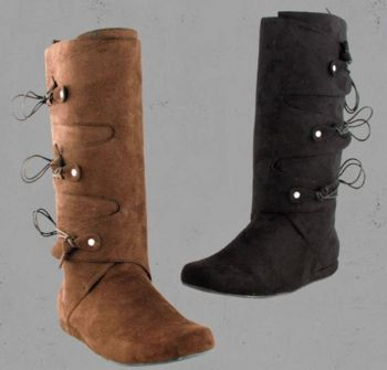 Men's Pseudo Suede Knee High Boots