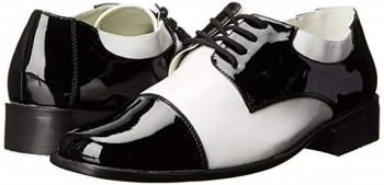 Men's White and Black Twenties Style Shoes