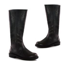 Men's Sleek and Versatile Black Knee Boots