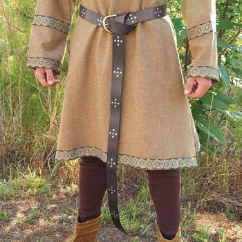Medieval Costume Long Leather Belt