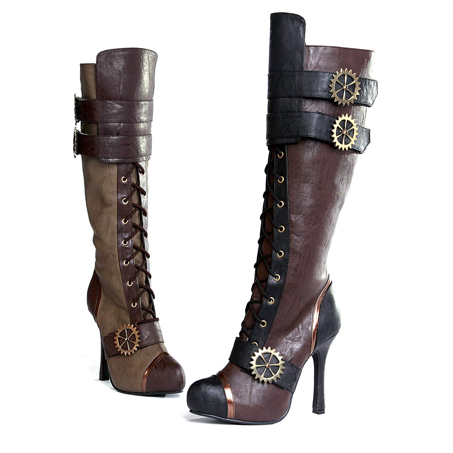 Women's Sexy Steampunk Lace-up High Heel Boots