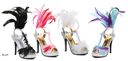 Women's Fancy Feather Heels