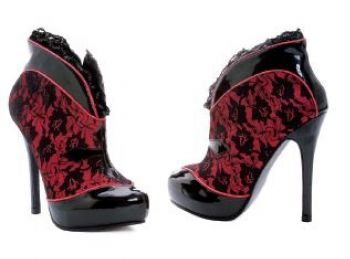 Women's Lace Twilight Goth High Heels