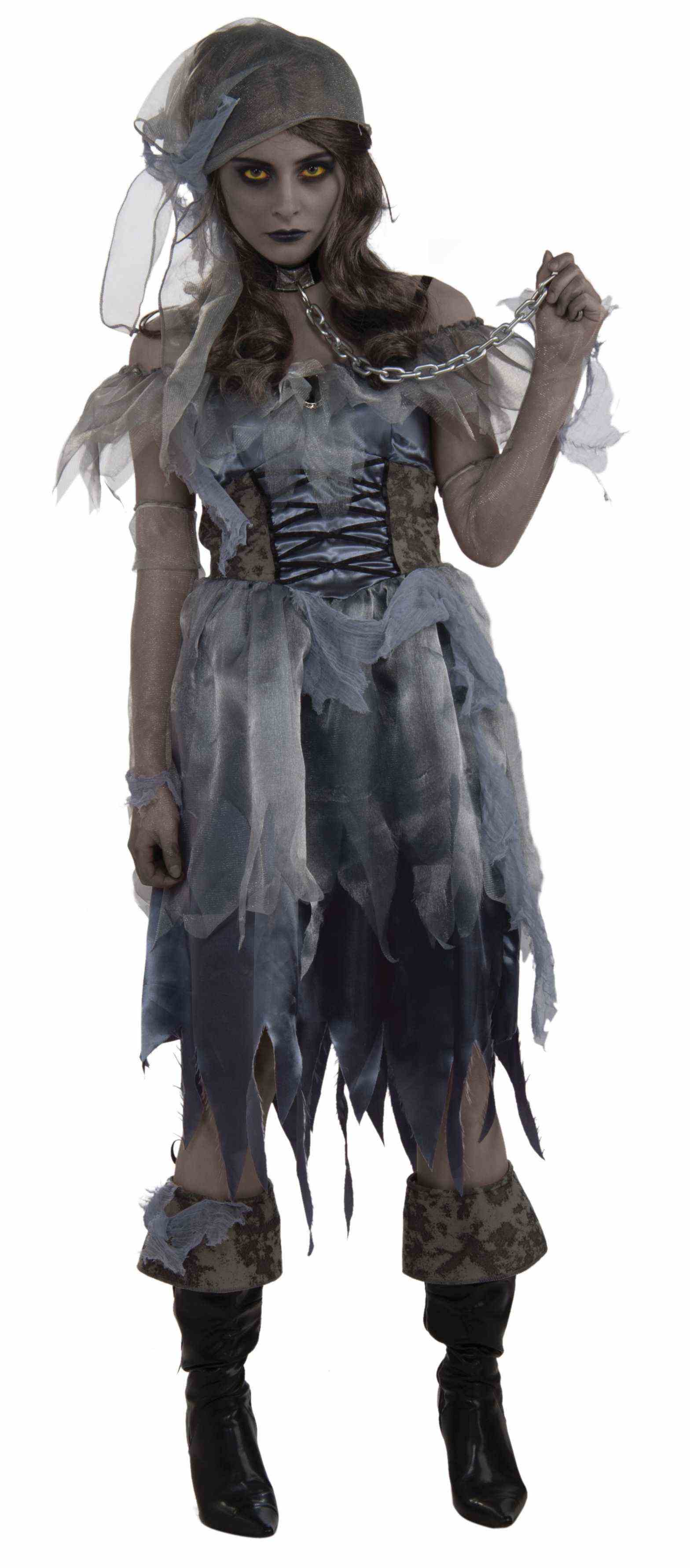 Women's Zombie Pirate Ghost Costume