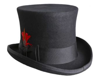 100% Wool Felt Top Hat - 8 color options
