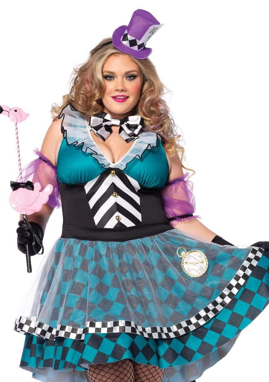 Women's Sexy and Sassy Plus Size Manic Mad Hatter Costume