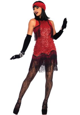 Red Hot Gatsby Girl 2 Piece Costume