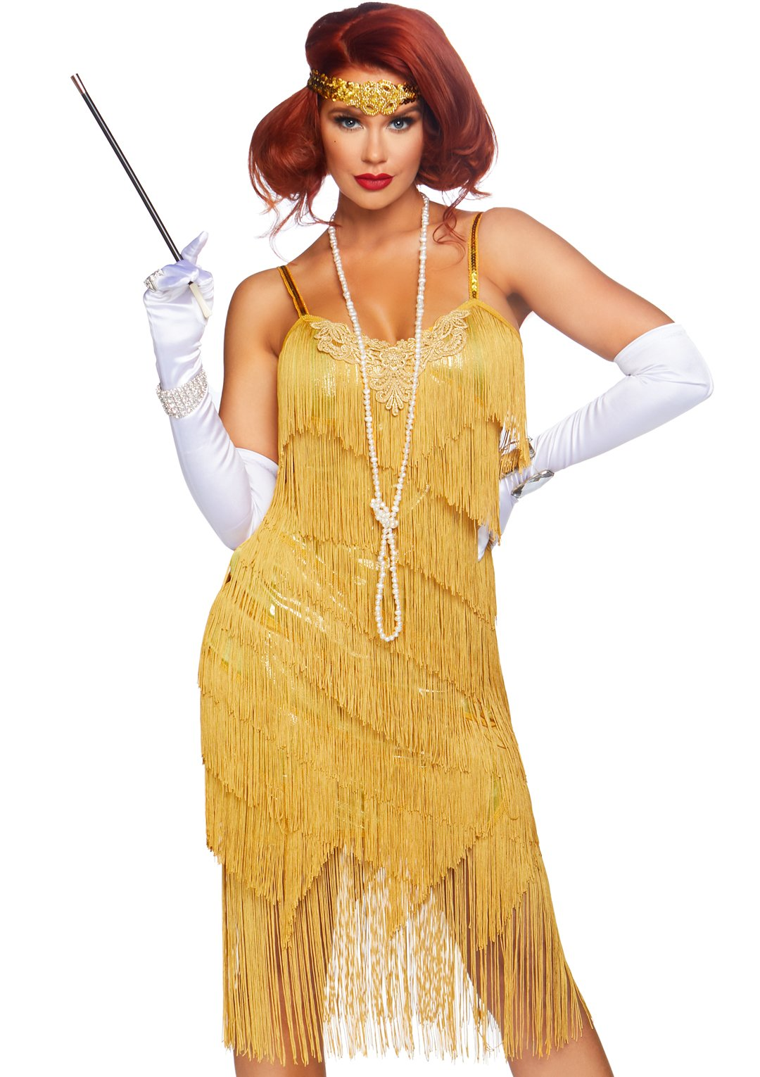 Dazzling Daisy Bright Yellow Flapper 2-piece Costume