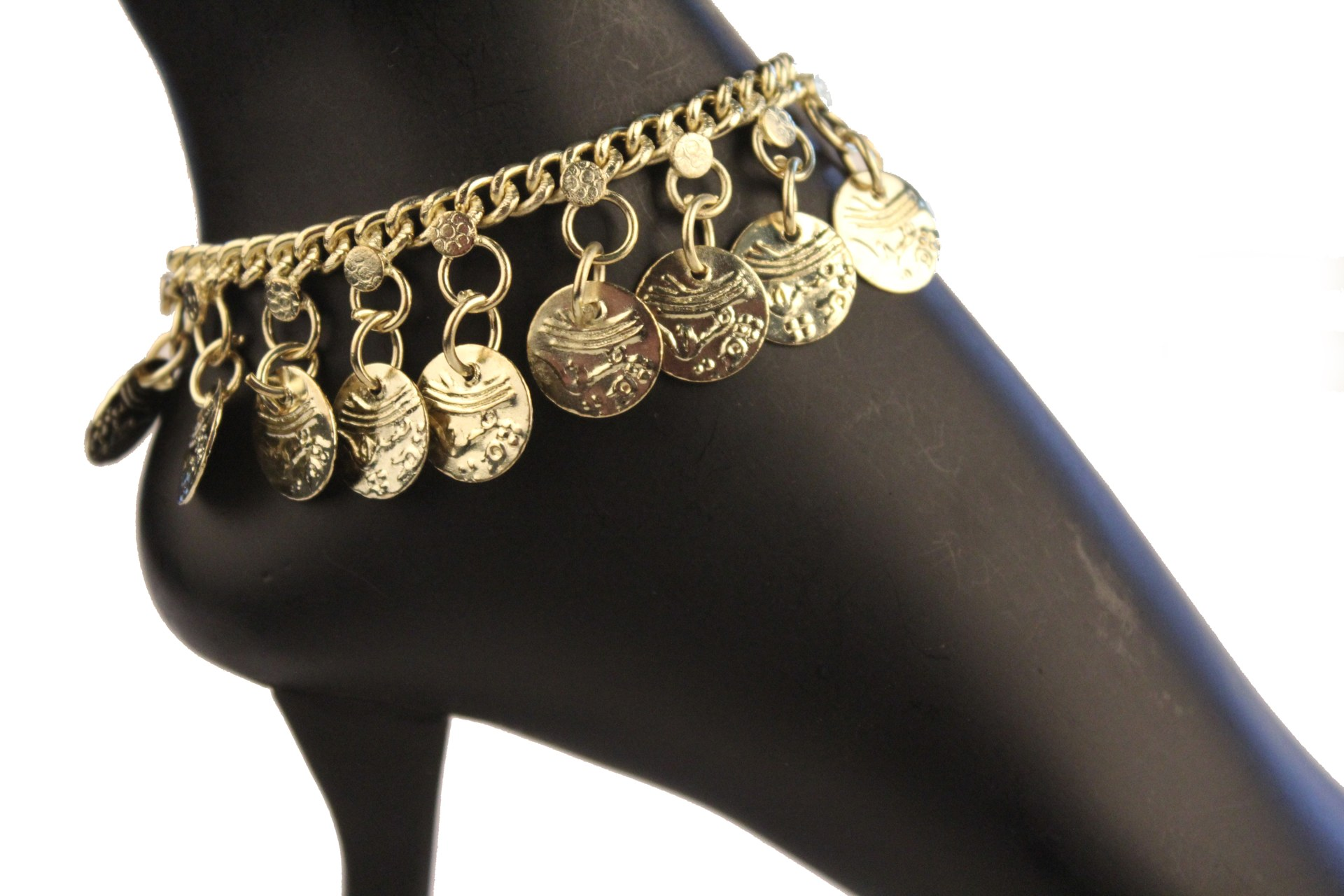 Single Row Coin Anklet for Belly Dancer Costume