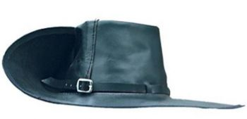 Black Leather Cavalier/Musketeer Hat