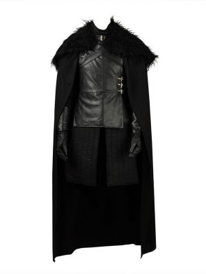 Game of Thrones Jon Snow King of The North Cosplay Costume