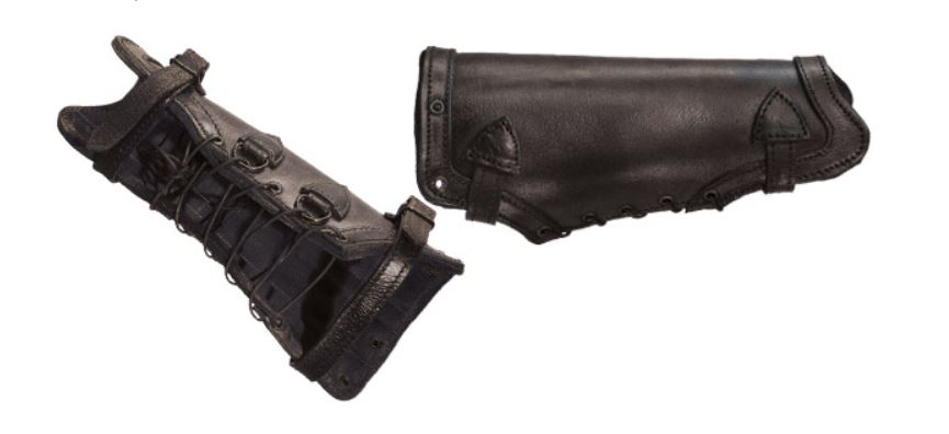 LeatherWorks Black Leather Greaves