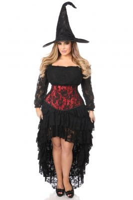 Spectacular 4 PC Lace Witch Corset Costume