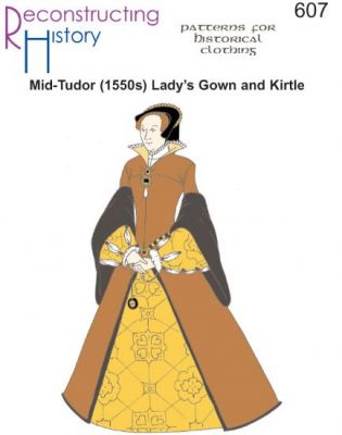 MID-TUDOR (1550's) LADY'S GOWN & KIRTLE