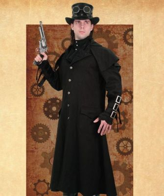 Luxurious Empire Style Steampunk Coat for Men