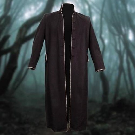 Men's Awesome Long Black Clockwork Steampunk Coat