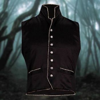 Men's Amazing Black Victorian Steampunk Clockwork Vest
