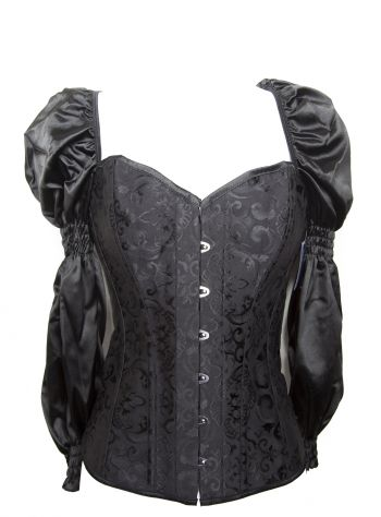 Women's Steampunk Sweet and Sassy Corset With Sleeves