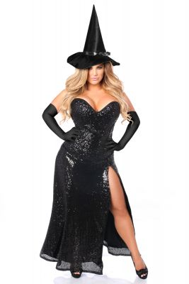 Premium Sequin Witch Corset Costume