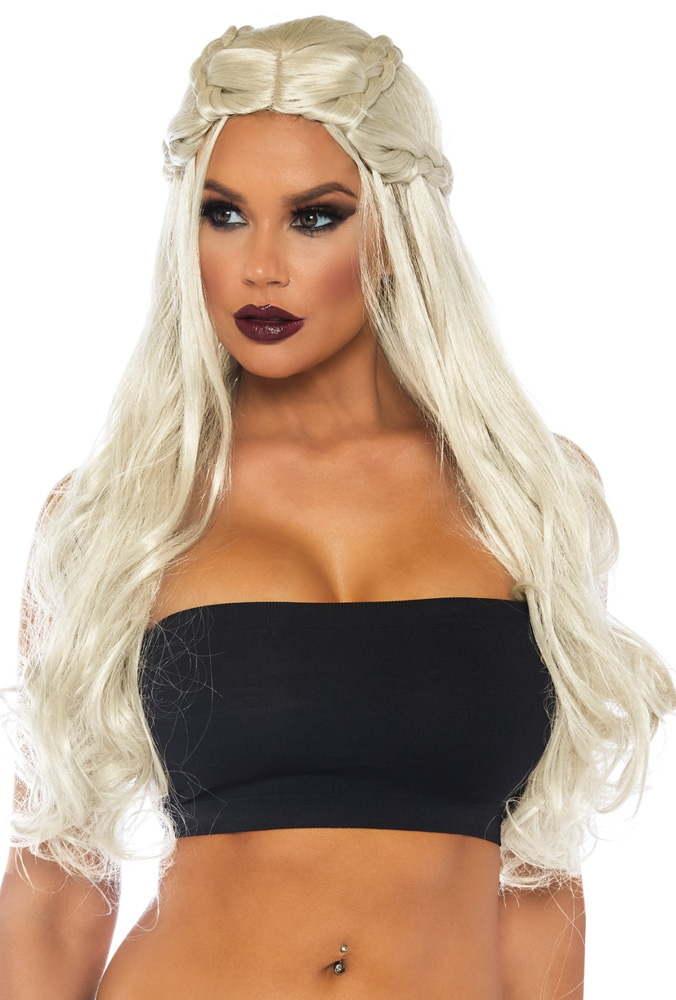 Long Blonde Dragon Lady Wig with Small Braids
