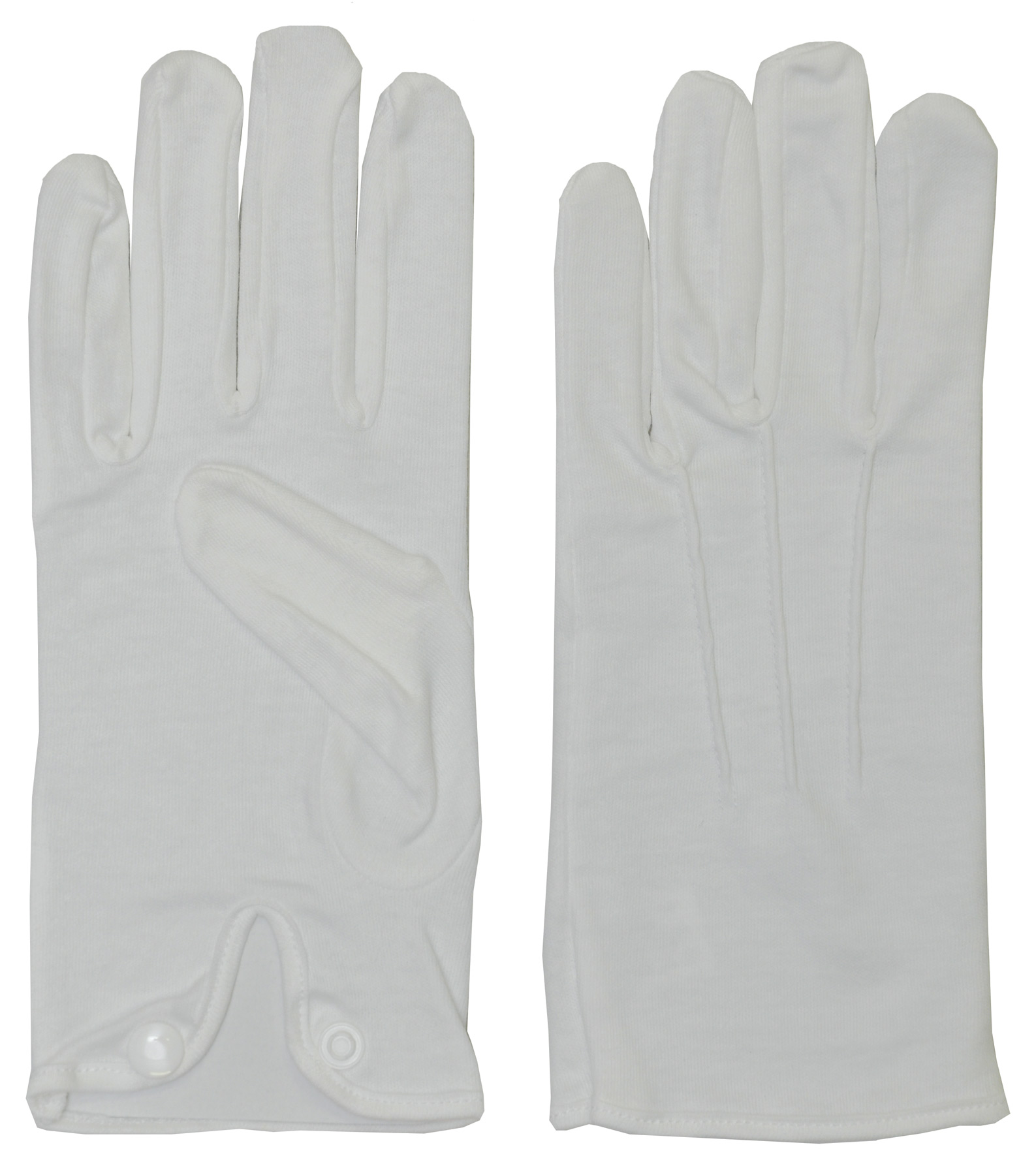Men's White Cotton Gloves