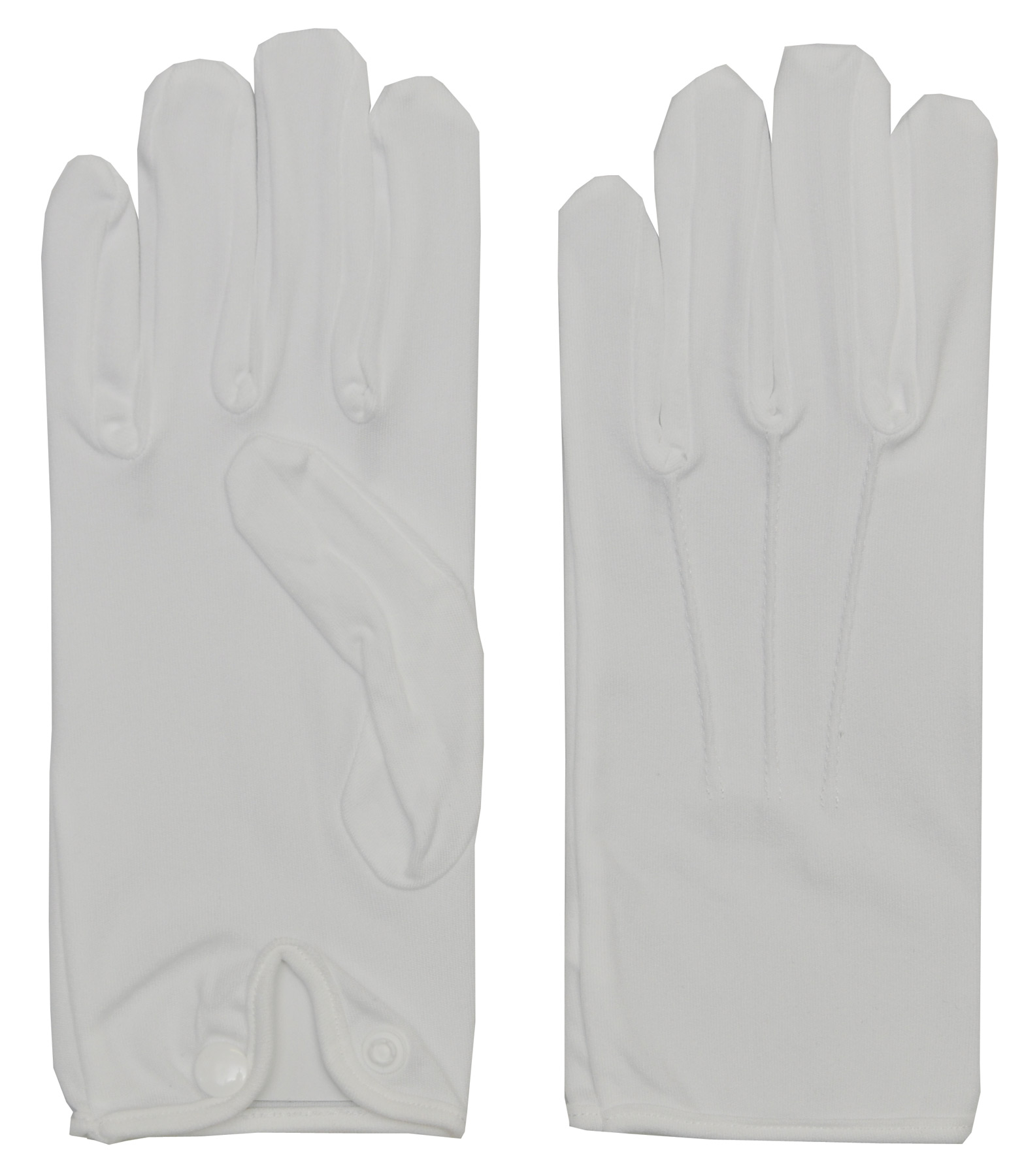 Men's White Nylon Gloves