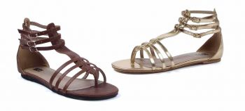 Ladies Greek or Roman Goddess Flat Sandals