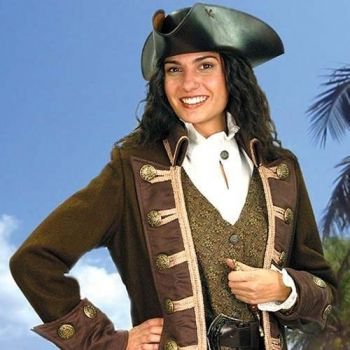 Women's Authentic Pirate Coat Costume