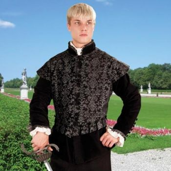 Three Musketeers Inspired Black Velvet Doublet