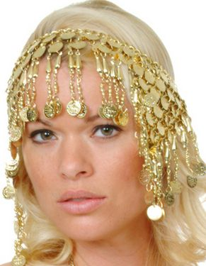 EGYPTIAN WOMEN'S COIN COSTUME HEADPIECE