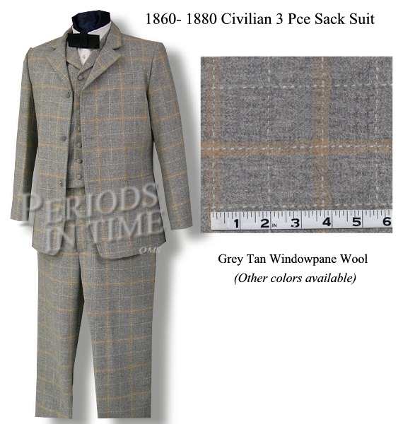 19th-Century 3 PIECE SACK SUIT