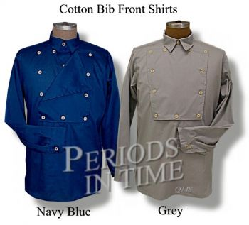 Cotton Bib Front Shirt