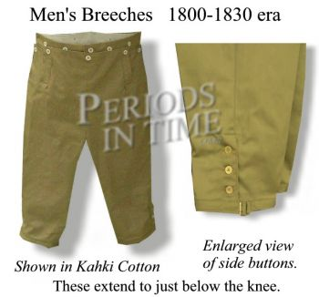 1800-30 Civilian Men's Breeches