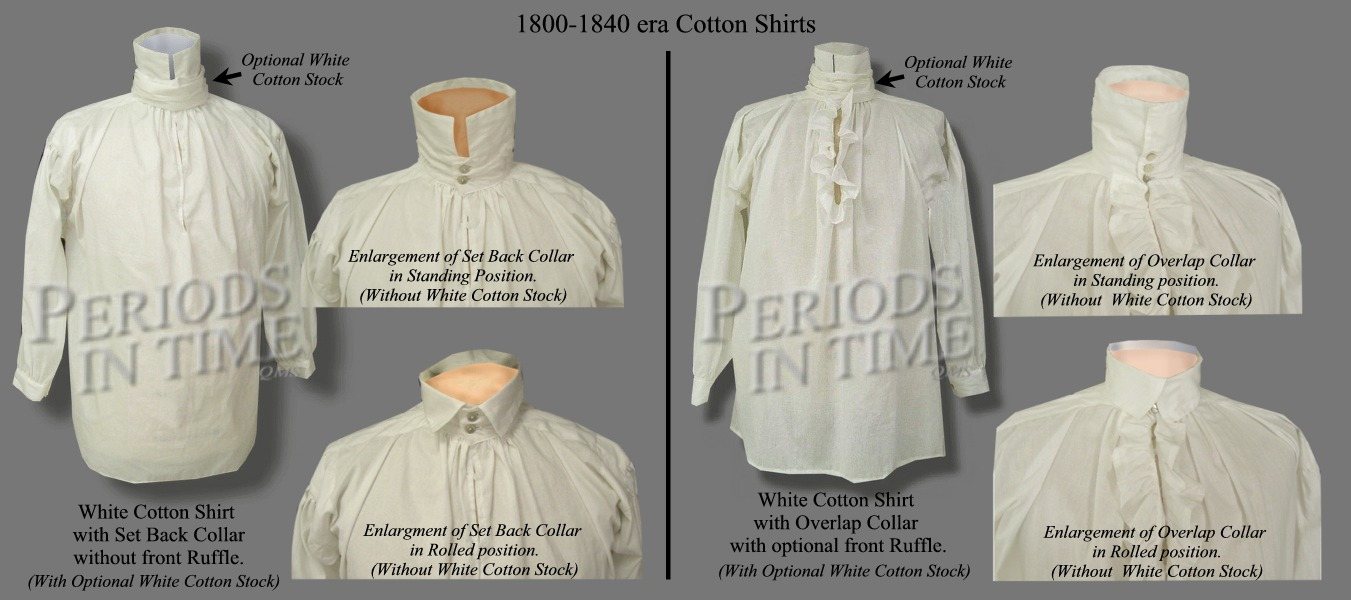Cotton Shirt for 1810-1840 Time Period
