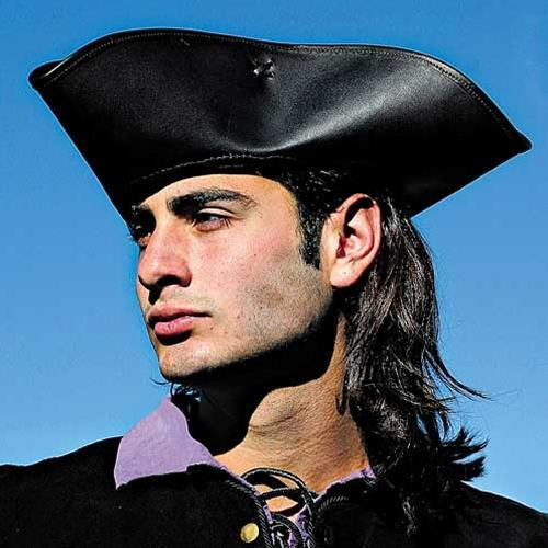 Pirate Leather Tricorn Hat