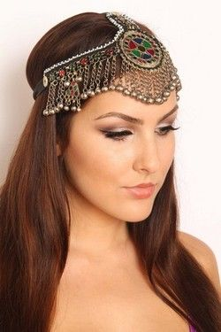 Belly Dance Tribal Two Strap Head Piece