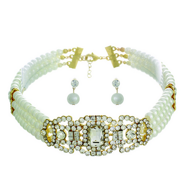 Pearl Chocker and EarringSet