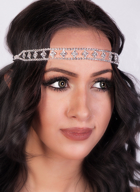 Lovely Retro  Style Art Deco Rhinestone Headband