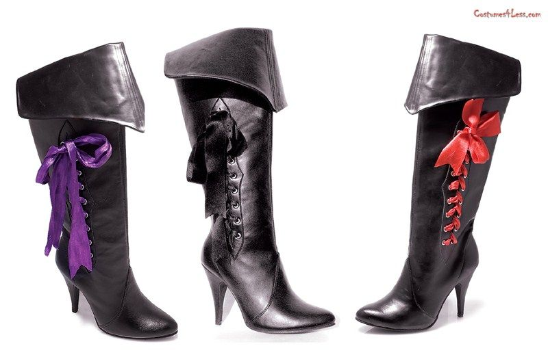 Women's 4 Inch Heel Pirate Boots