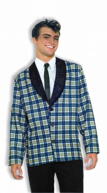Men's Costume 50's Retro Style Plaid Jacket
