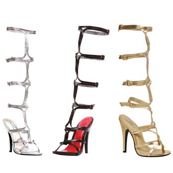 Sexy Goddess 5 inch Stiletto Knee High Strappy Style Sandals