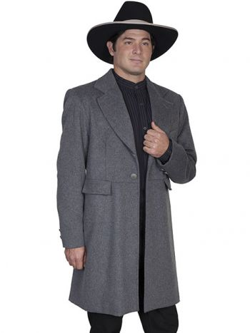 Men's Old West Wool Blend Frock Coat