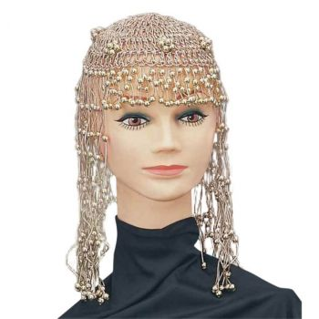 Women's Gold Beaded Costume Egyptian Headpiece