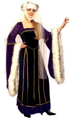 Medieval Lady Costume in Royal Purple
