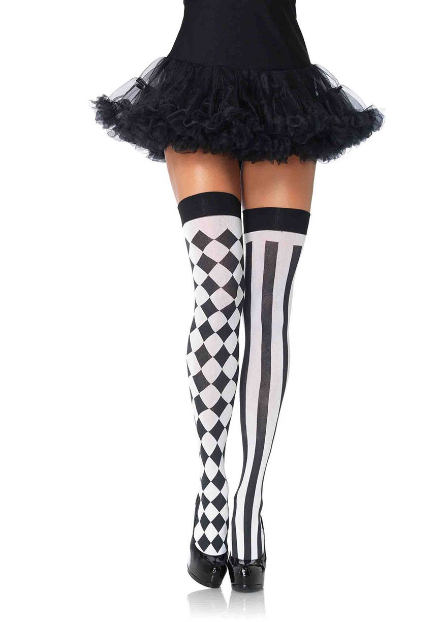 Women's Sexy Harlequin Thigh Highs