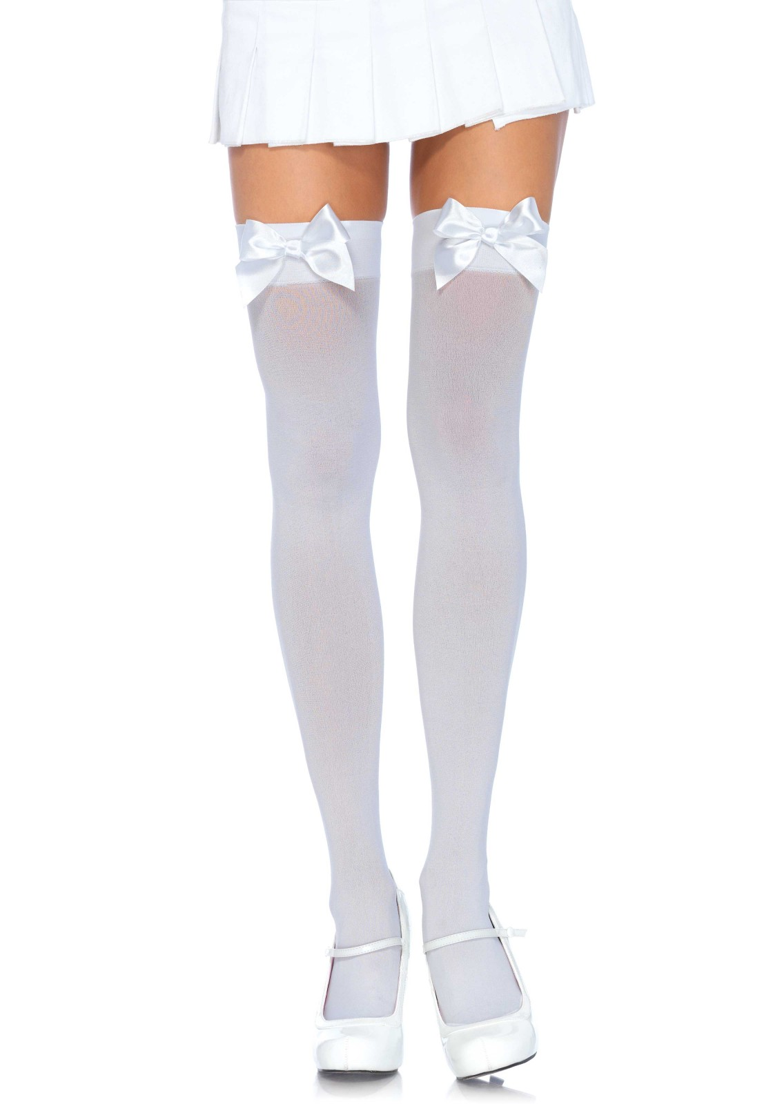 Plus Size Sweet Bow Top Thigh High Stockings