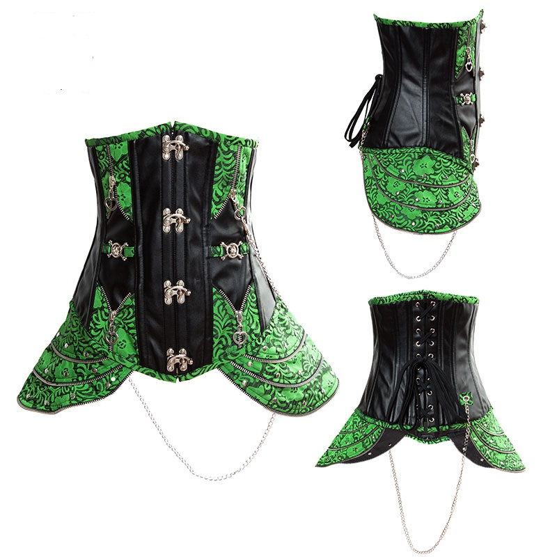 Gorgeous Steampunk Underbust Corsets With Thong