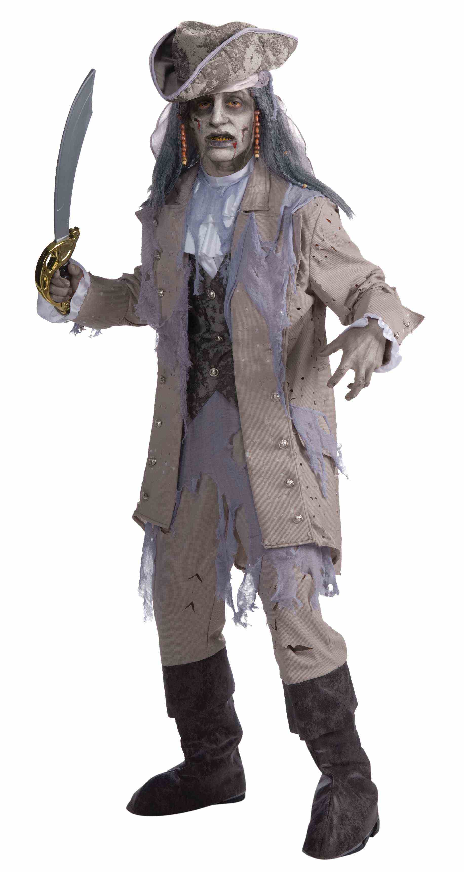 Adult Men's Dead Men Tell No Tales Zombie Pirate Costume